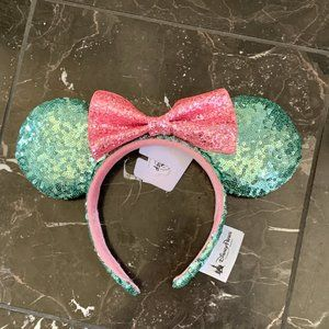 NWT Disney Sugar Rush Mint & Pink Ears Headband